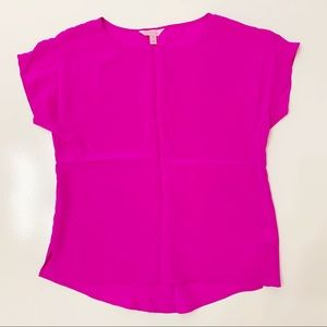 Lilly Pulitzer Silk Guava Top XS pink